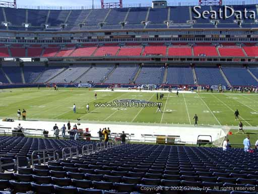 Seat view from section 111 at Nissan Stadium, home of the Tennessee Titans