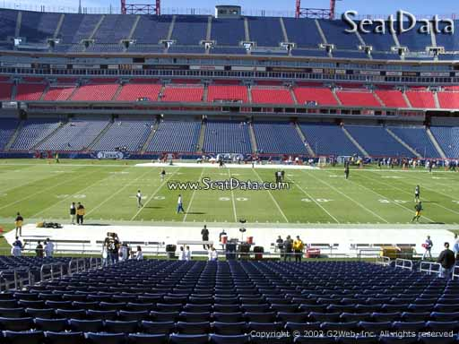 Seat view from section 112 at Nissan Stadium, home of the Tennessee Titans