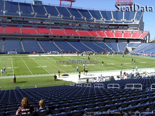 Seat view from section 114 at Nissan Stadium, home of the Tennessee Titans