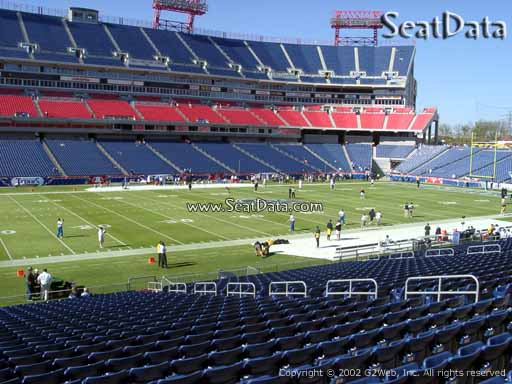 Seat view from section 115 at Nissan Stadium, home of the Tennessee Titans