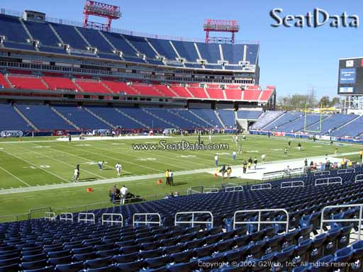Seat view from section 116 at Nissan Stadium, home of the Tennessee Titans