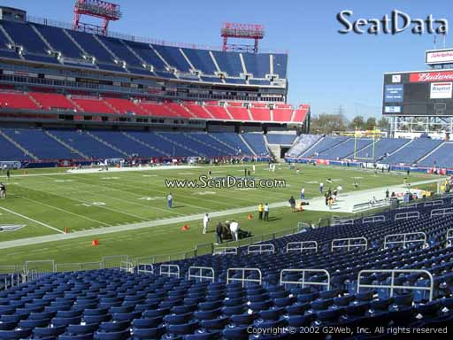 Seat view from section 1 at Nissan Stadium, home of the Tennessee Titans