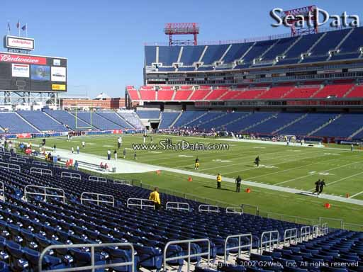 Seat view from section 131 at Nissan Stadium, home of the Tennessee Titans