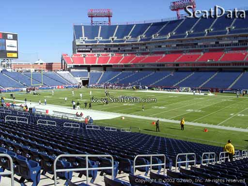 Seat view from section 132 at Nissan Stadium, home of the Tennessee Titans