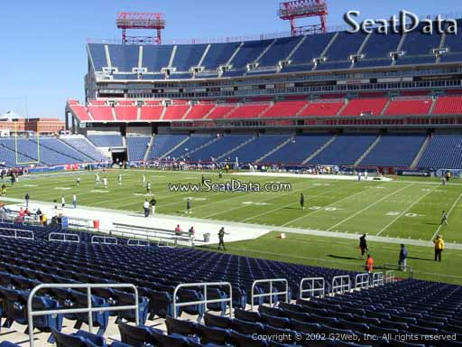 Seat view from section 133 at Nissan Stadium, home of the Tennessee Titans