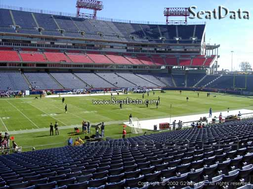 Seat view from section 138 at Nissan Stadium, home of the Tennessee Titans