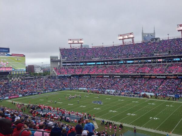Seat view from section 207 at Nissan Stadium, home of the Tennessee Titans
