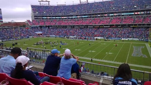 Seat view from section 208 at Nissan Stadium, home of the Tennessee Titans