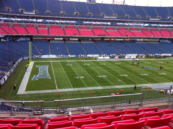 Seat view from section 216 at Nissan Stadium, home of the Tennessee Titans