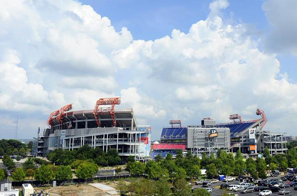 View of Nissan Stadium from the Cumberland River