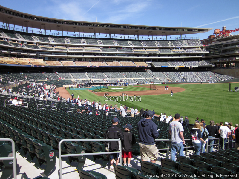 View from Section 101 at Target Field