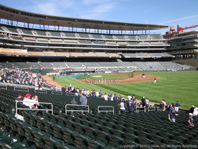 View from Section 102 at Target Field