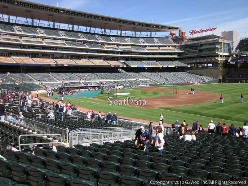 Seat view from section 104 at Target Field, home of the Minnesota Twins