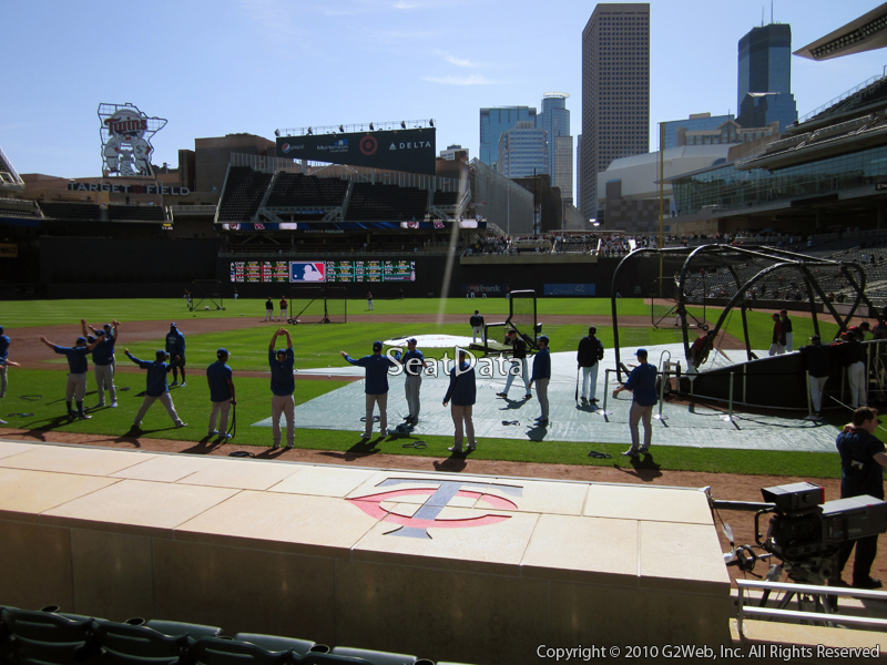 Seat view from section 11 at Target Field, home of the Minnesota Twins