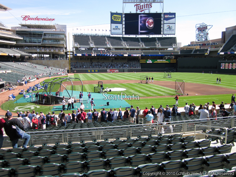Seat view from section 110 at Target Field, home of the Minnesota Twins