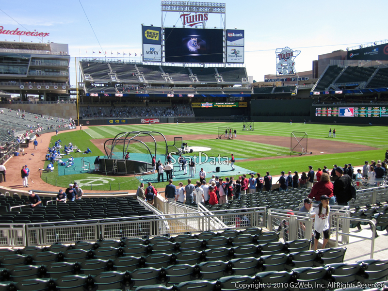 Seat view from section 111 at Target Field, home of the Minnesota Twins