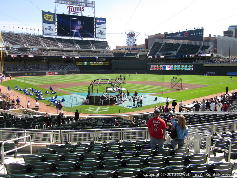 Seat view from section 113 at Target Field, home of the Minnesota Twins