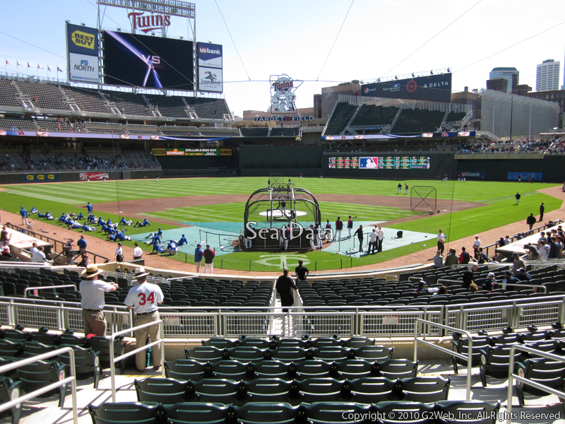 Seat view from section 114 at Target Field, home of the Minnesota Twins