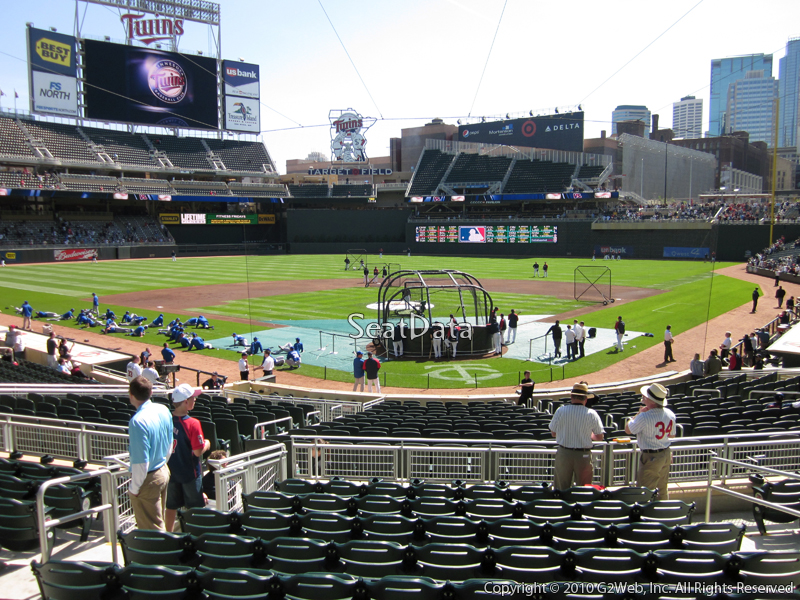 Seat view from section 115 at Target Field, home of the Minnesota Twins
