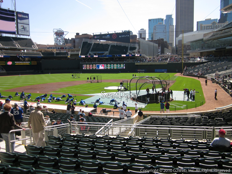 Seat view from section 117 at Target Field, home of the Minnesota Twins