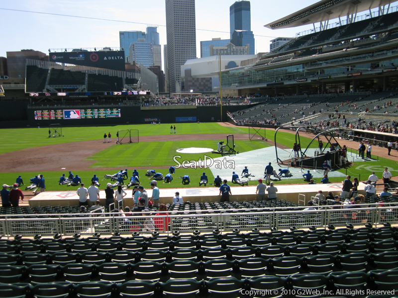 Seat view from section 119 at Target Field, home of the Minnesota Twins