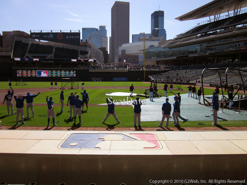 Seat view from section 12 at Target Field, home of the Minnesota Twins