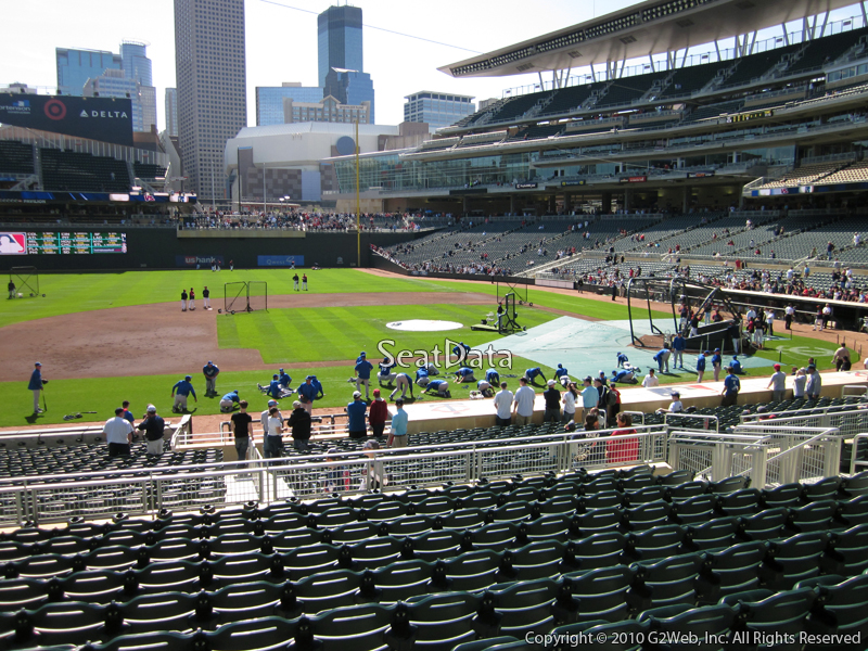 Seat view from section 120 at Target Field, home of the Minnesota Twins