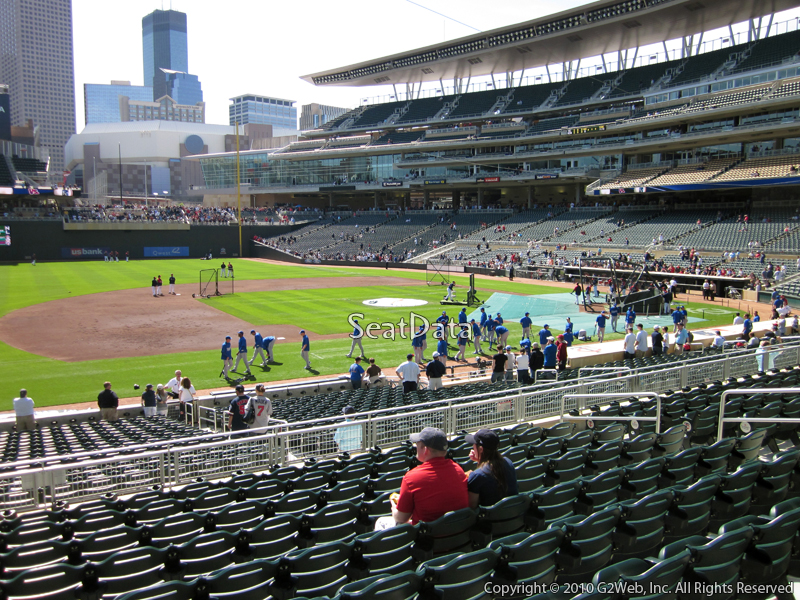 View from Section 121 at Target Field
