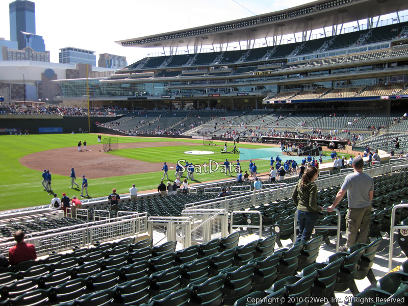 Seat view from section 122 at Target Field, home of the Minnesota Twins
