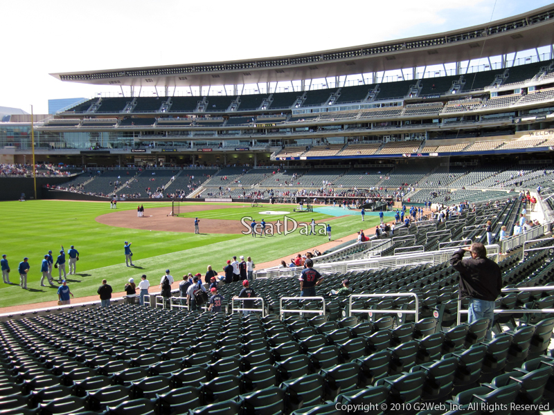 Seat view from section 125 at Target Field, home of the Minnesota Twins