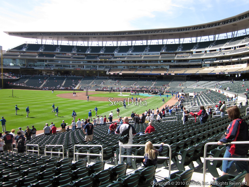 Seat view from section 127 at Target Field, home of the Minnesota Twins