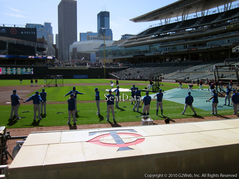 Seat view from section 13 at Target Field, home of the Minnesota Twins