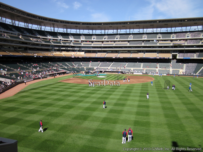 Seat view from section 135 at Target Field, home of the Minnesota Twins