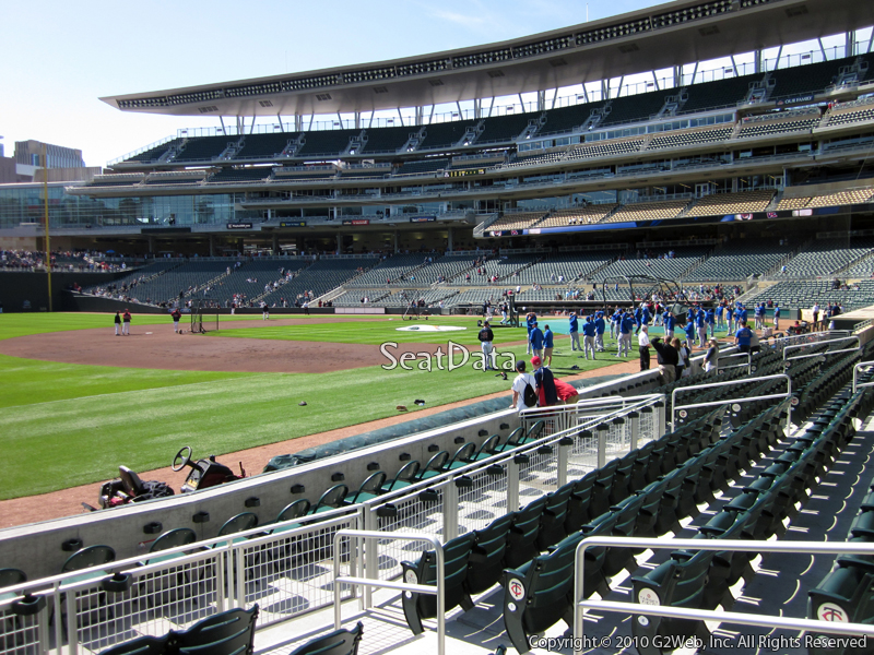 Seat view from section 17 at Target Field, home of the Minnesota Twins