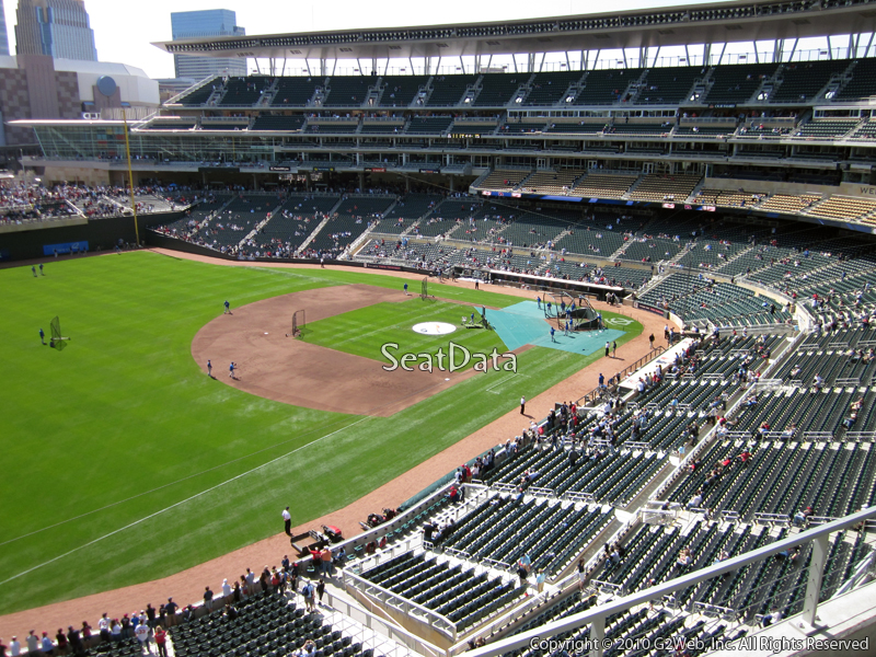 Seat view from section 226 at Target Field, home of the Minnesota Twins