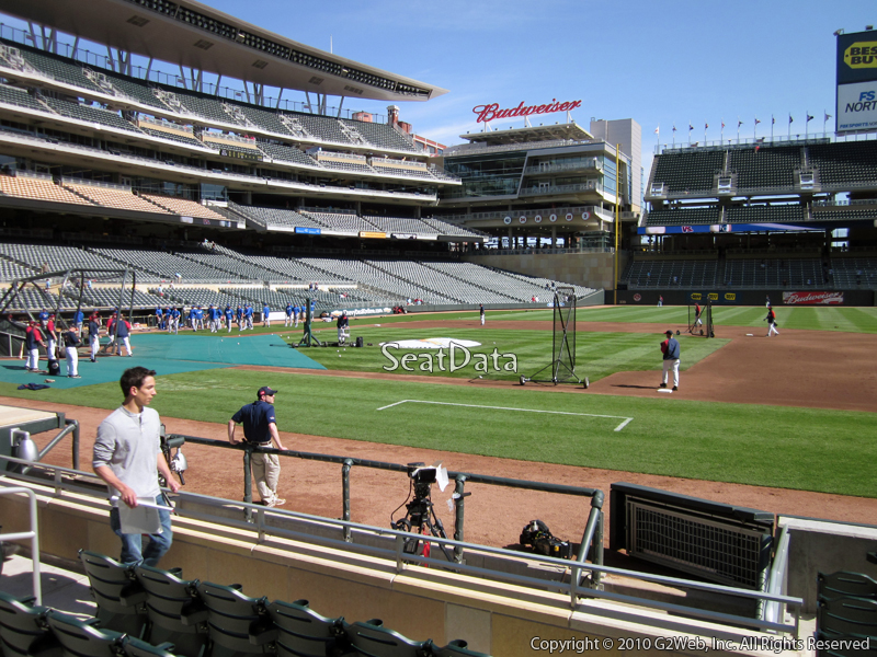 Seat view from section 3 at Target Field, home of the Minnesota Twins