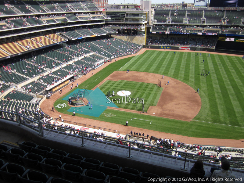 Seat view from section 308 at Target Field, home of the Minnesota Twins