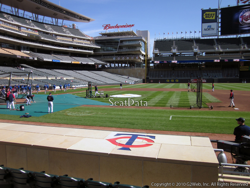 Seat view from section 4 at Target Field, home of the Minnesota Twins