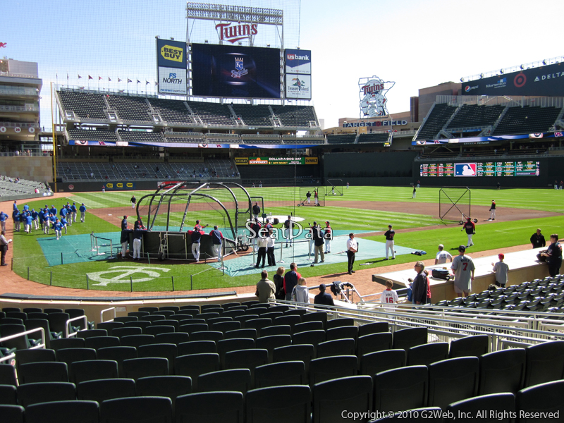 Seat view from section 7 at Target Field, home of the Minnesota Twins