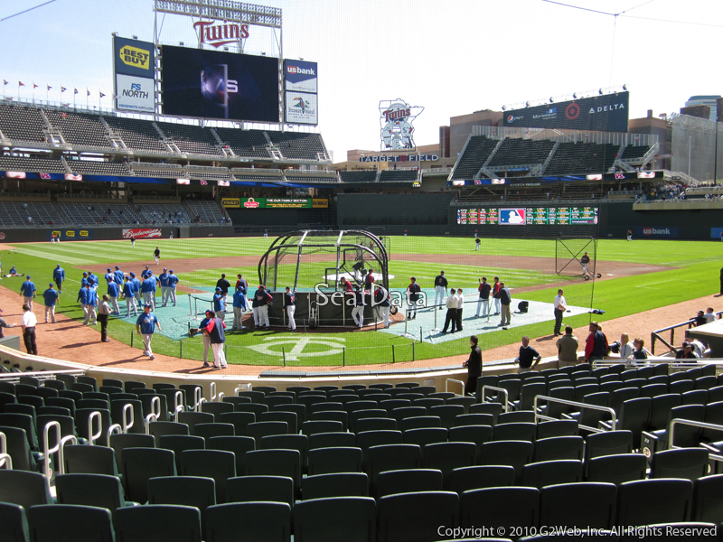 Seat view from section 8 at Target Field, home of the Minnesota Twins