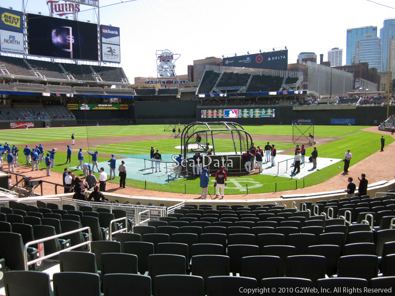 Seat view from section 9 at Target Field, home of the Minnesota Twins