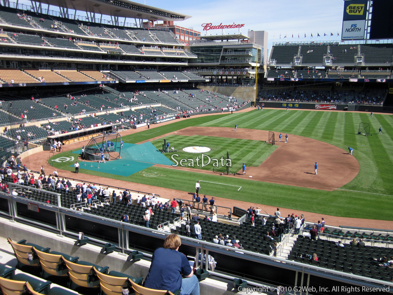 Seat view from section A at Target Field, home of the Minnesota Twins