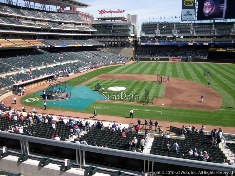 Seat view from section B at Target Field, home of the Minnesota Twins