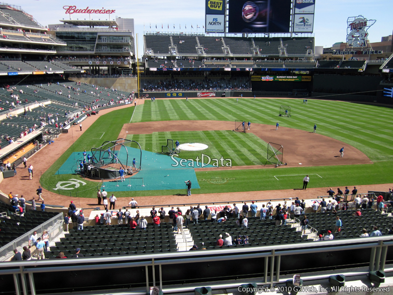 Seat view from section D at Target Field, home of the Minnesota Twins