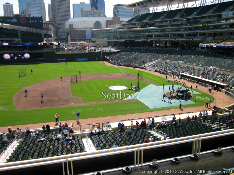 Seat view from section P at Target Field, home of the Minnesota Twins