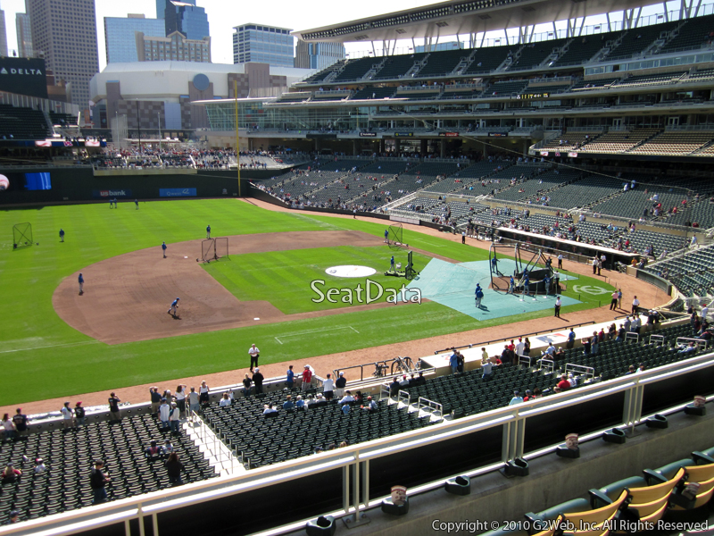 Seat view from section Q at Target Field, home of the Minnesota Twins