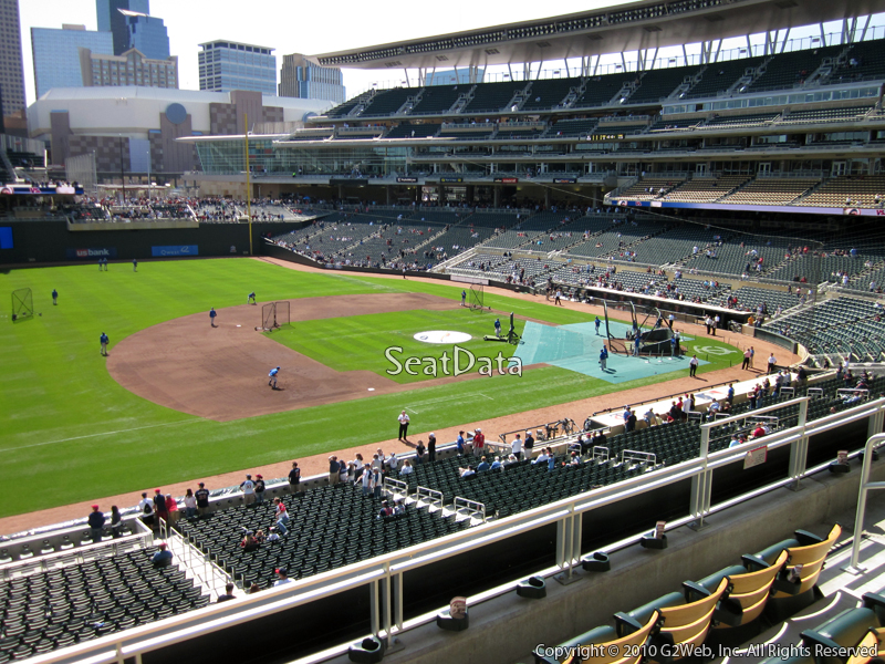 Seat view from section R at Target Field, home of the Minnesota Twins