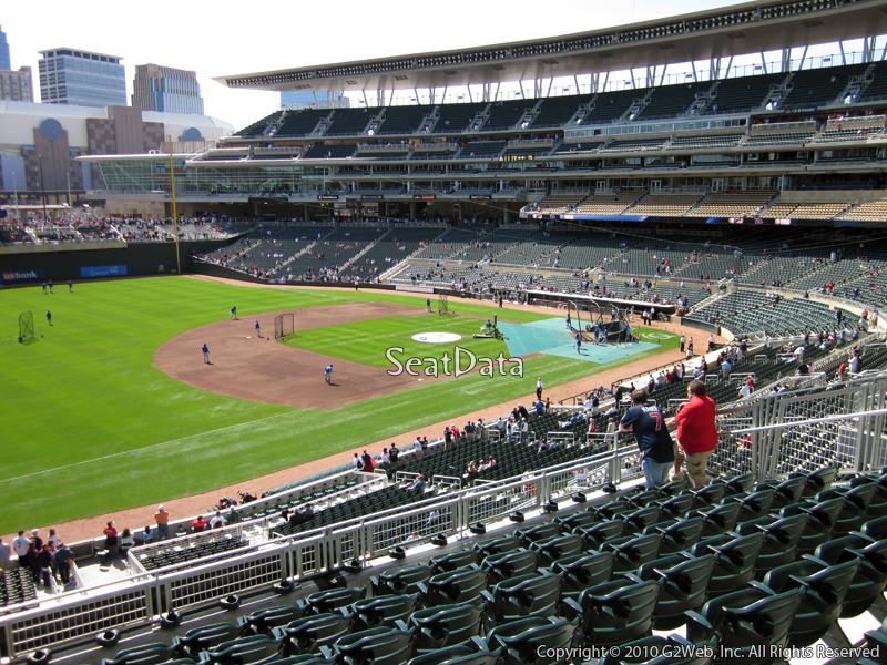 Seat view from section S at Target Field, home of the Minnesota Twins