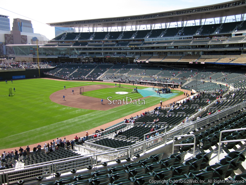 Seat view from section T at Target Field, home of the Minnesota Twins