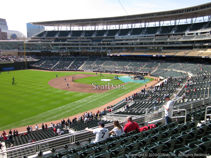 Seat view from section U at Target Field, home of the Minnesota Twins